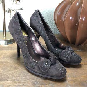 Cole Haan Brown Leather Platform Stiletto Heels